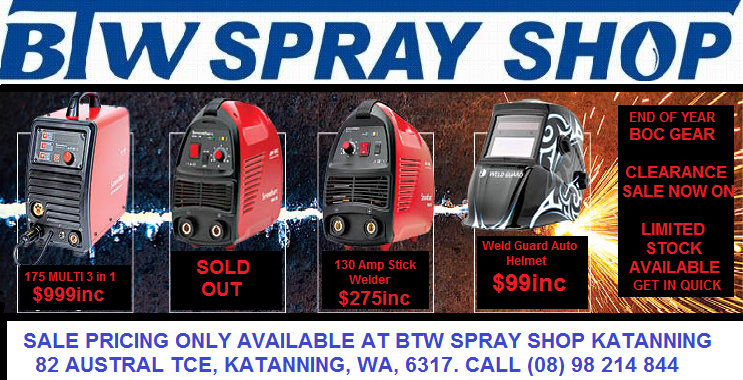 BOC WELDING END OF YEAR CLEARANCE SPECIALS